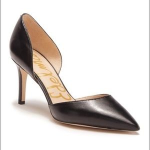 Sam Edelman Telsa Leather d'Orsay Pump in Black